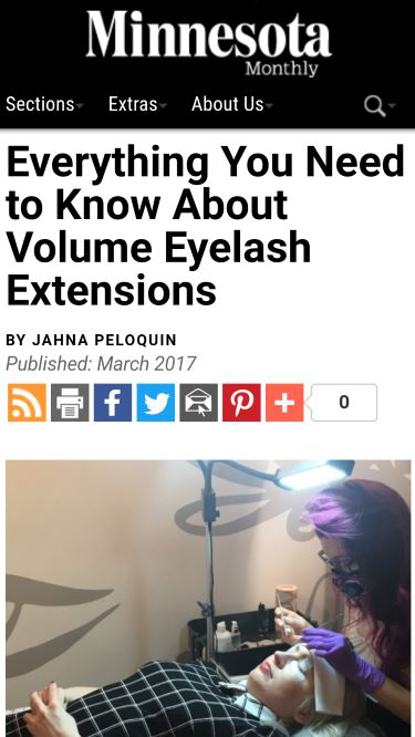 Minnesota Monthly Volume Extensions Article